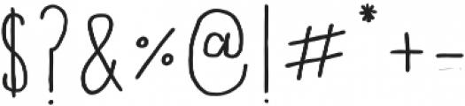 Fontastic Handy otf (700) Font OTHER CHARS