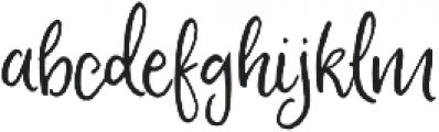 Fontbox Peach and Pistachio otf (400) Font LOWERCASE
