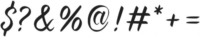 Forever Brush Script Regular otf (400) Font OTHER CHARS