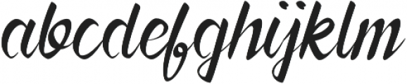 Forever Brush Script Regular otf (400) Font LOWERCASE