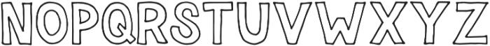 Forfty Regular otf (400) Font UPPERCASE