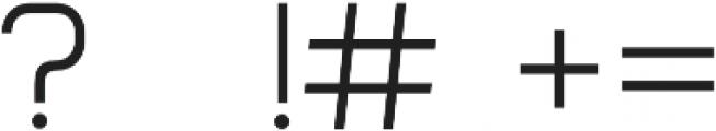 Form otf (300) Font OTHER CHARS