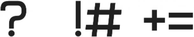 Form otf (400) Font OTHER CHARS