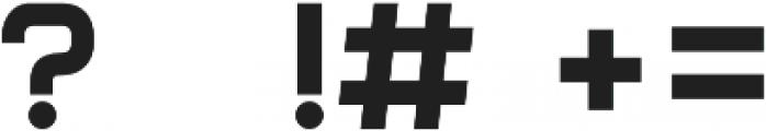 Form otf (700) Font OTHER CHARS