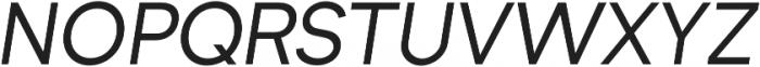 Formatif Std Regular Italic otf (400) Font UPPERCASE