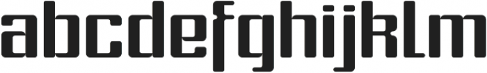 Formetic Bold otf (700) Font LOWERCASE