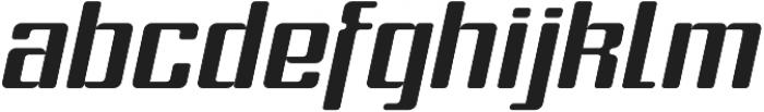 Formetic Light Oblique otf (300) Font LOWERCASE