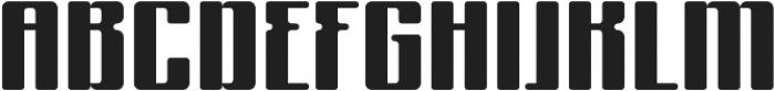 Formetic otf (700) Font UPPERCASE