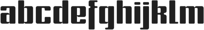 Formetic otf (700) Font LOWERCASE