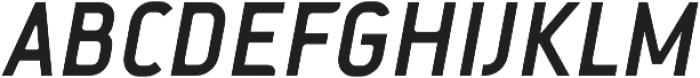 Fou Bold Italic otf (700) Font UPPERCASE