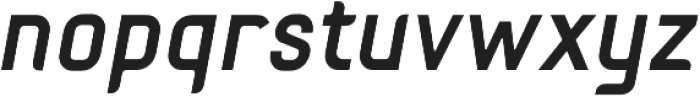 Fou Bold Italic otf (700) Font LOWERCASE