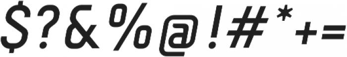 Fou Medium Italic otf (500) Font OTHER CHARS