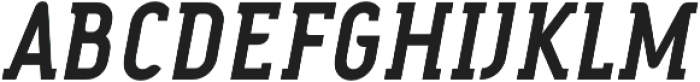 FouSerifCN Bold Italic otf (700) Font UPPERCASE
