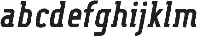 FouSerifCN Bold Italic otf (700) Font LOWERCASE