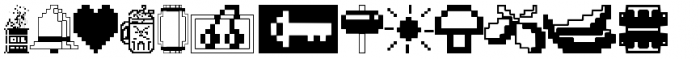 Fontalicious Thingbats Font LOWERCASE