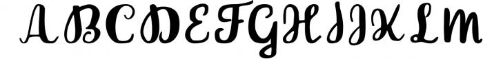 Forever script Font UPPERCASE