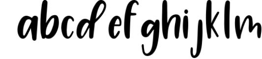 Four Hand Lettered Fonts Bundle by Jordyn Alison Designs 1 Font LOWERCASE