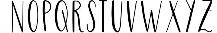 Four Hand Lettered Fonts Bundle by Jordyn Alison Designs 2 Font UPPERCASE