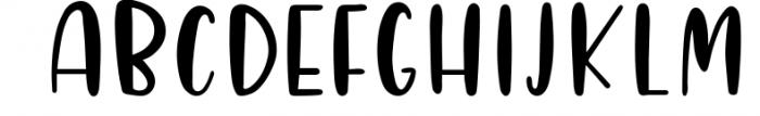 Four Hand Lettered Fonts Bundle by Jordyn Alison Designs 3 Font UPPERCASE