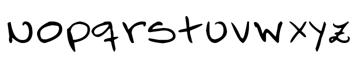 FO-Mic's Hand Font LOWERCASE