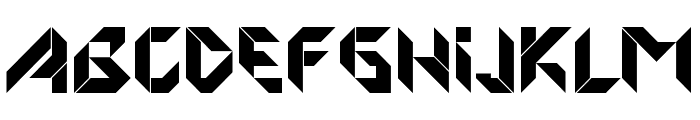 FORMFOUND Origami Font LOWERCASE