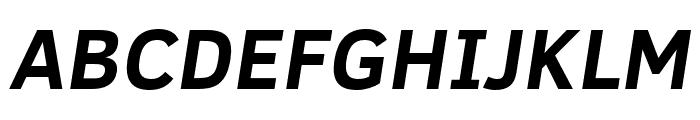 Fog Sans Italic Font UPPERCASE