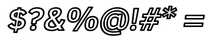 Fog Sans Outline Italic Font OTHER CHARS