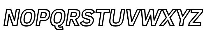 Fog Sans Outline Italic Font UPPERCASE