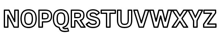 Fog Sans Outline Font UPPERCASE
