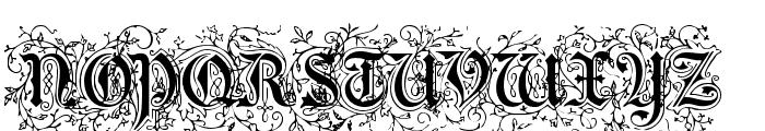 Foliar Initials Font UPPERCASE
