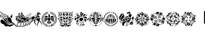 Folk Art Font UPPERCASE