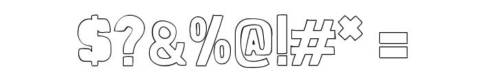Folk outline Font OTHER CHARS