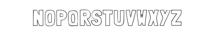 Folk outline Font LOWERCASE