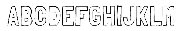 Folk sketches Font UPPERCASE