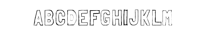 Folk sketches Font LOWERCASE