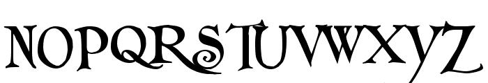 Folkard Font UPPERCASE