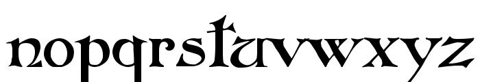 Folkard Font LOWERCASE