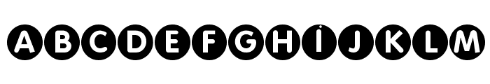 FolksCircleNegative Font UPPERCASE