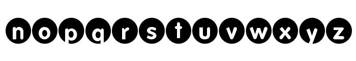 FolksCircleNegative Font LOWERCASE