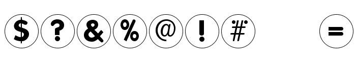 FolksCirclePositive Font OTHER CHARS