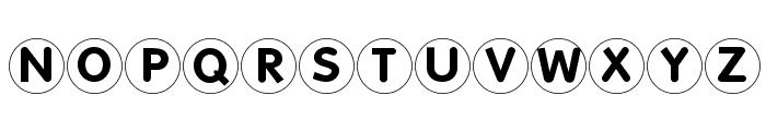 FolksCirclePositive Font UPPERCASE