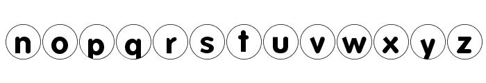FolksCirclePositive Font LOWERCASE