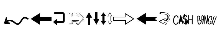 Follow The Arrow Font LOWERCASE