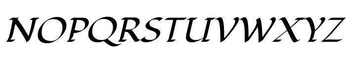 Fondamento-Italic Font UPPERCASE