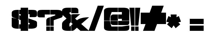 Fonderian-BlackStencil Black Font OTHER CHARS