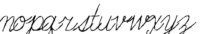 Fondue Font LOWERCASE