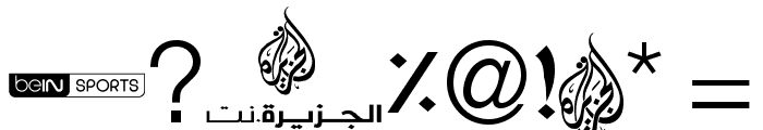 Font Aljazeera Color Font OTHER CHARS