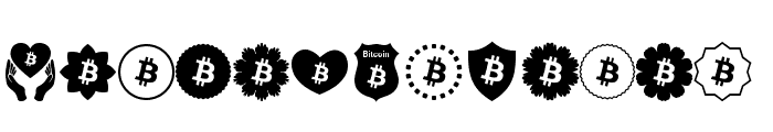 Font Bitcoin Color Font UPPERCASE
