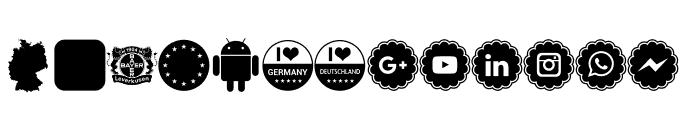 Font Color Germany Font UPPERCASE