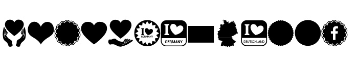 Font Color Germany Font LOWERCASE